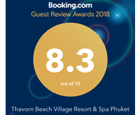 Award Guest Review Booking.com Thavorn Beach Kamala 2018