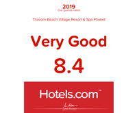 Award Our Guests Rated Hotels Thavorn Beach Village Resort and Spa Phuket 2019